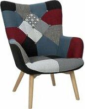 Fauteuil design patchwork milano - gris