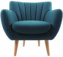 Fauteuil Design Scandinave SOFT - Bleu Pétrole