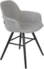 Fauteuil design tissu gris