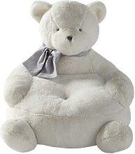 Fauteuil enfant ours blanc