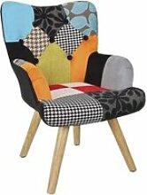 Fauteuil enfant patchwork Helsinki 43,5 x 40,5 x