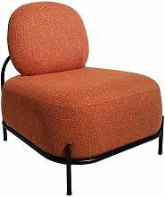 Fauteuil Fashion Commerce en tissu orange et base