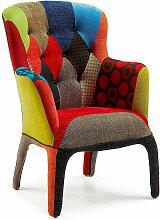Fauteuil Fashion Commerce en tissu patchwork