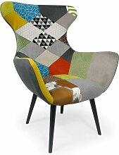 Fauteuil Geo Tissu Patchwork - Multicolore