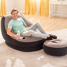 Fauteuil gonflable avec pouf Ultra Lounge Relax