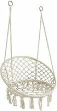 Fauteuil hamac rond en coton et métal