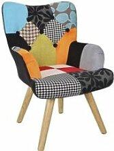Fauteuil Helsinki patchwork pour enfant Autres Bleu