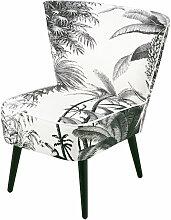 Fauteuil imprimé jungle noir et blanc