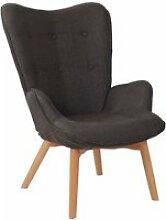 Fauteuil lounge dana en tissu i chaise fauteuil