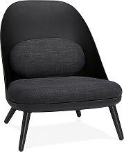 Fauteuil lounge design 'TICOS' noir