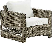 Fauteuil lounge en aluminium et fibre synthétique