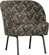 Fauteuil lounge en velours multicolore