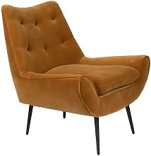 Fauteuil lounge Glodis whisky