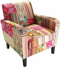 Fauteuil lounge patchwork bohème