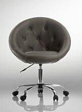 Fauteuil lounge pivotant synthétique noir