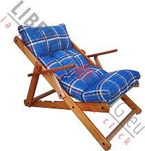Fauteuil Lounge RELAX 3 positions en bois pliant