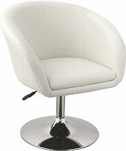 Fauteuil lounge salon salle à manger bureau blanc