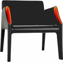 Fauteuil MAGIC HOLE de Kartell, Noir / Orange