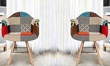 Fauteuil multicolore Vacuit de style scandinaves :
