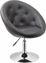 Fauteuil oeuf capitonné design cuir PU chaise