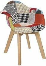 Fauteuil patchwork enfant home deco factory HD6902