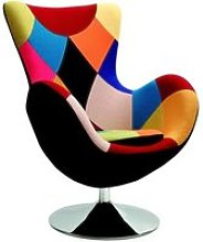Fauteuil Patchwork multicolore