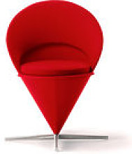 Fauteuil pivotant Cone Chair / By Verner Panton,
