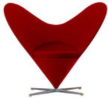Fauteuil pivotant Heart Cone Chair / By Verner