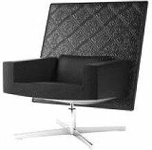Fauteuil pivotant Jackson Chair / Cuir brodé -