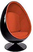 Fauteuil pivotant Oeuf, Egg Chair Coque