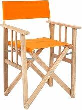 Fauteuil pliable réalisateur en eucalyptus orange