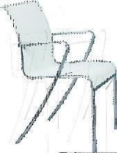 Fauteuil QT de Royal Botania, Blanc électropoli