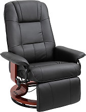 Fauteuil relax inclinable pivotant bois