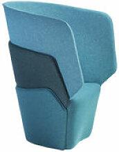 Fauteuil rembourré Layer - Offecct bleu en tissu