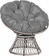 Fauteuil rond de jardin fauteuil papasan pivotant