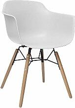 Fauteuil salle à manger design scandinave blanc