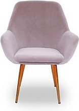 Fauteuil scandinave baoba velours - velours taupe