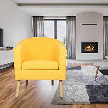 Fauteuil scandinave - jaune - jaune