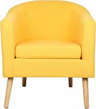 Fauteuil scandinave - jaune
