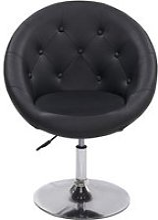 Fauteuil siège chaise capitonné lounge pivotant