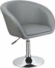 Fauteuil siège chaise design lounge pivotant cuir