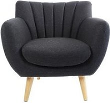 Fauteuil Soft Style Scandinave Gris Anthracite