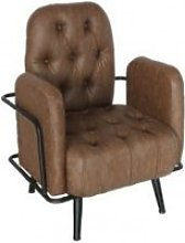 Fauteuil style chesterfield confort
