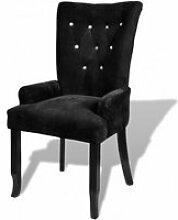 Fauteuils club Chaise capitonnee noir 54 x 56 x