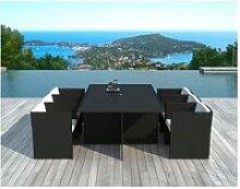 Fauteuils (lot de 6) + tables jardin delorm black