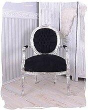 fauteuils SOMPTUEUX argent noir médaillon