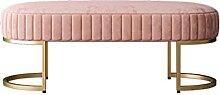 Faux fourrure Pink Ottoman Banc Salon Tabouret