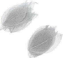FAVOMOTO 20Pcs Squelette Feuilles Naturel Fleurs