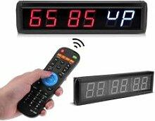Fdit horloge numérique LED 2.3 `` Programmable