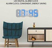 Fdit réveil 3D Grande horloge murale numérique